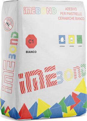 IMEBOND Bianco adesivo per piastrelle prodotto da ime distribuito da cime srl COMMERCIO INDUSTRIA MATERIALI EDILI napoli e provincia ed in italia