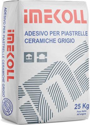 IMEKOLL adesivo per piastrelle ceramiche Bianco prodotto da ime distribuito da cime srl COMMERCIO INDUSTRIA MATERIALI EDILI napoli e provincia ed in italia