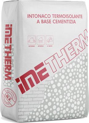 IMETHERM intonaco termoisolante prodotto da ime distribuito da cime srl COMMERCIO INDUSTRIA MATERIALI EDILI napoli e provincia ed in italia