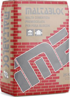 MALTABLOK malta cementizia per blocchi prodotto da ime distribuito da cime srl COMMERCIO INDUSTRIA MATERIALI EDILI napoli e provincia ed in italia