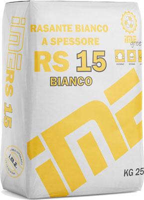 RS15 rasante bianco prodotto da ime distribuito da cime srl COMMERCIO INDUSTRIA MATERIALI EDILI napoli e provincia ed in italia