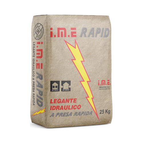 IMERAPID LEGANTE RAPIDO prodotto da ime distribuito da cime srl COMMERCIO INDUSTRIA MATERIALI EDILI napoli e provincia ed in italia