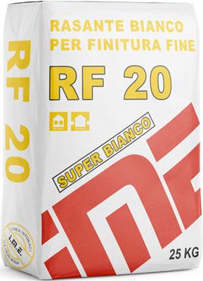 RF20 rasante bianco PER FINITURA FINE  prodotto da ime distribuito da cime srl COMMERCIO INDUSTRIA MATERIALI EDILI napoli e provincia ed in italia