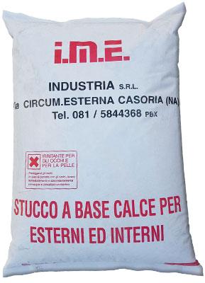 stucco a base calce per esterni ed interni Bianco prodotto da ime distribuito da cime srl COMMERCIO INDUSTRIA MATERIALI EDILI napoli e provincia ed in italia