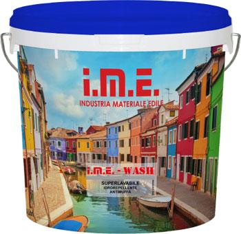 pittura IME-WASH  prodotto da ime distribuito da cime srl COMMERCIO INDUSTRIA MATERIALI EDILI napoli e provincia ed in italia